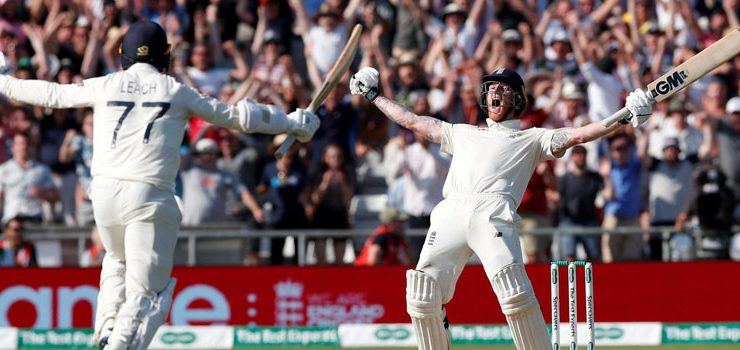 Ben Stokes's ton helped English side to level the series.