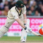 Steve Smith hits a beach ball to a boundary