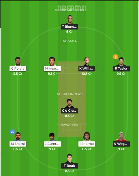 Team 1 – dream 11 predictions
