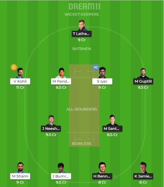 IND vs NZ 2nd ODI Dream11 Team prediction | Match prediction