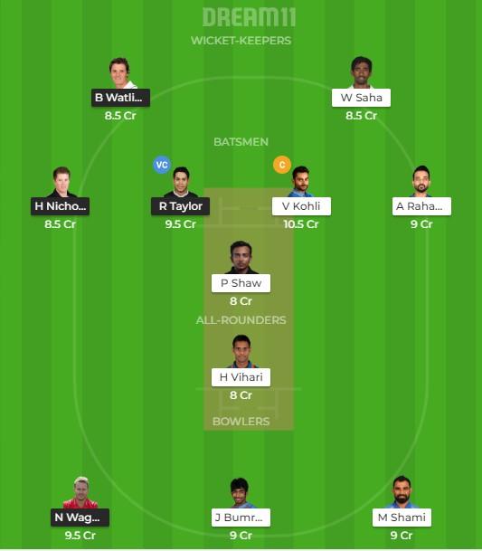 Team 1 – Dream11 team prediction