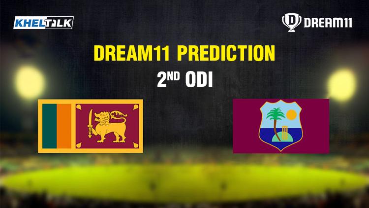 Sri Lanka vs West Indies 2nd ODI today match prediction | Dream11 team