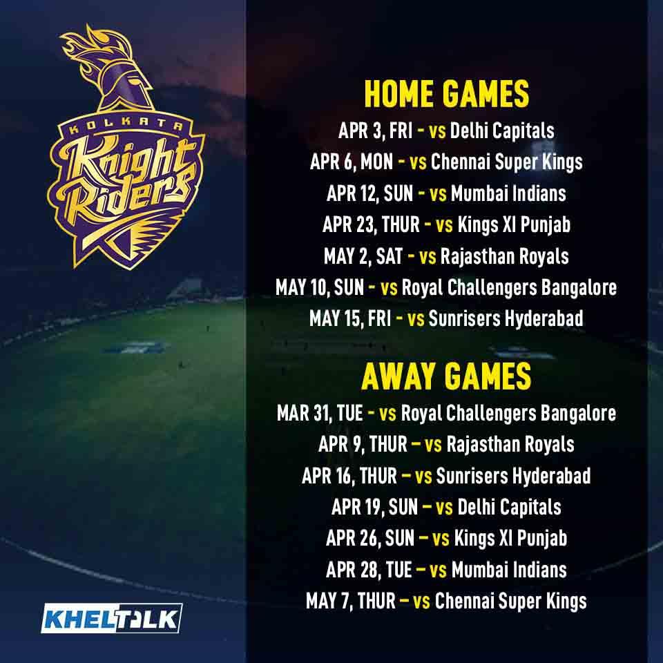 Mumbai Indians (MI) – IPL 2020 ScheduleMumbai Indians (MI) – IPL 2020 Schedule