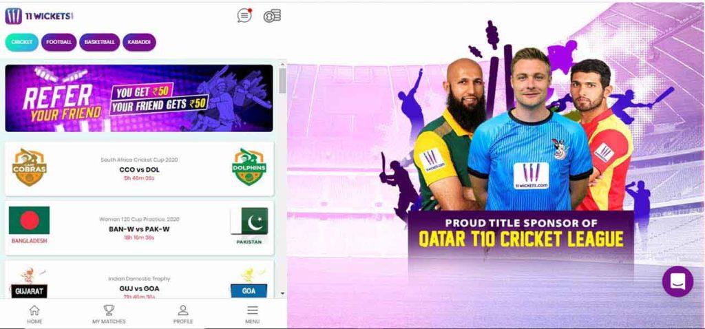 11 wickets desktop lobby