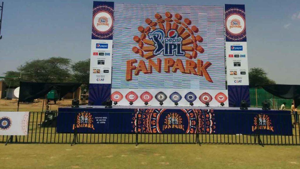 Fan parks at IPL 2020
