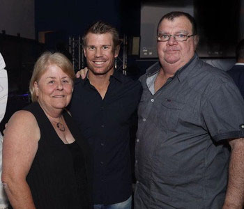 David Warner Family