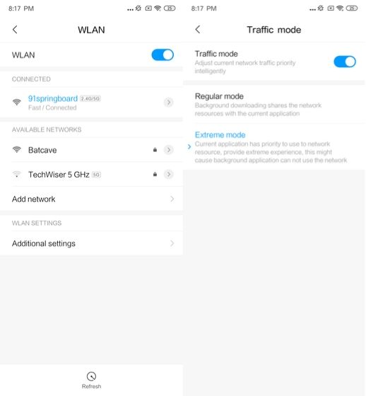 Control the settings of your WiFi