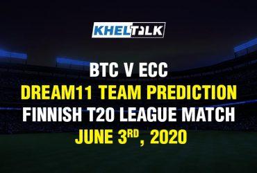 BTC v ECC Dream11 Team Prediction - Finnish T20 League Match - June 3rd, 2020