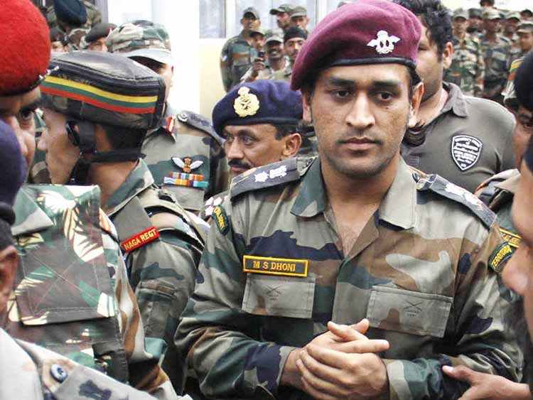 MS Dhoni - Lieutenant Colonel, Indian Territorial Army
