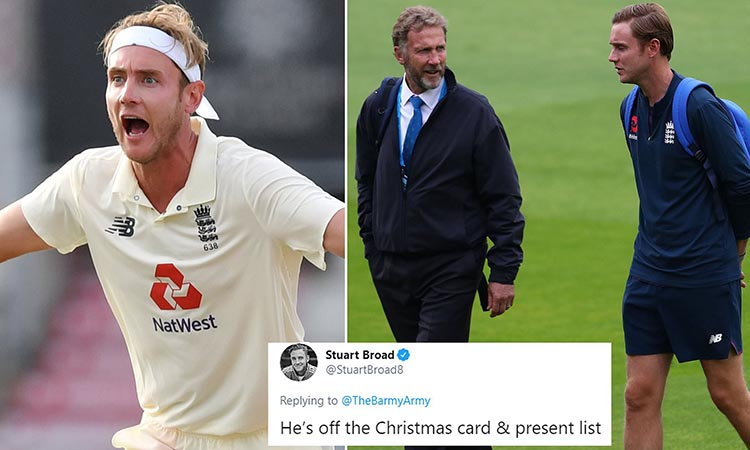 Stuart Broad getting fined by his father Chris Broad