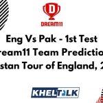 Eng Vs Pak - 1st Test - Dream11 team prediction today   Match Prediction   Pitch Report   Toss prediction - Pakistan Tour of England, 2020