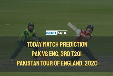 Today Match Prediction - ENG vs PAK - 3rd T20I – Pakistan Tour of England