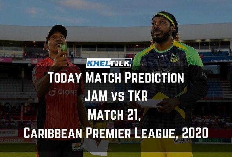 Today Match Prediction – TKR vs JAM – CPL 2020 – 21st Match