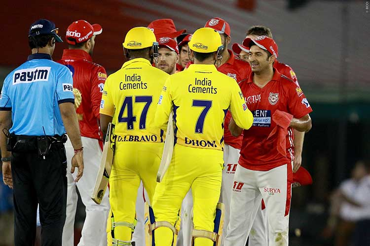 Head To Head Matches Between KXIP and CSK