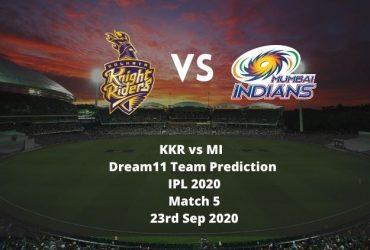 KKR vs MI Dream11 Team Prediction | IPL 2020 | Match 5 | 23rd Sep 2020