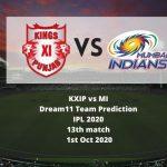 KXIP vs MI Dream11 Team Prediction | IPL 2020 | 13th match | 1st Oct 2020