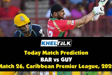 CPL 2020: GUY vs BAR | Today Match Prediction | Who will win the match