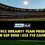 KAM vs VCC Dream11 Team Prediction | 17th Sept 2020 | ECS T10 Capelle