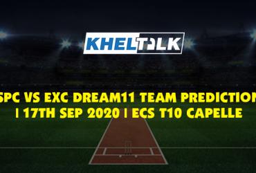 SPC vs EXC Dream11 Team Prediction | 17th Sept 2020 | ECS T10 Capelle