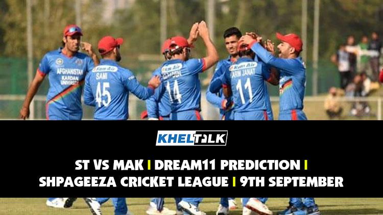ST vs MAK Dream11 Prediction | Probable XI | 9th September | Shpageeza T20 League 2020