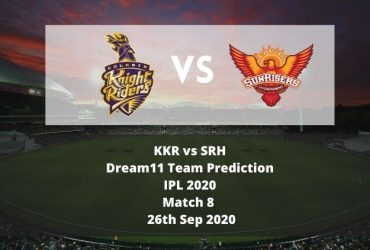 KKR vs SRH Dream11 Team Prediction | IPL 2020 | Match 8 | 26th Sep 2020