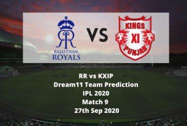RR vs KXIP Dream11 Team Prediction | IPL 2020 | Match 9 | 27th Sep 2020