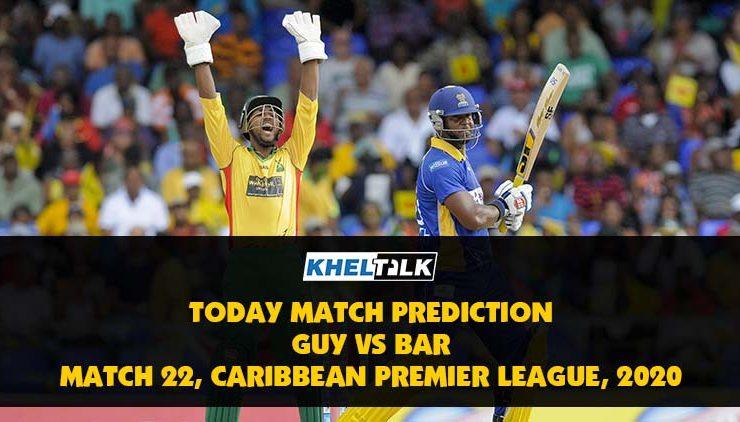 Today Match Prediction – GUY vs BAR – CPL 2020 – 22nd Match