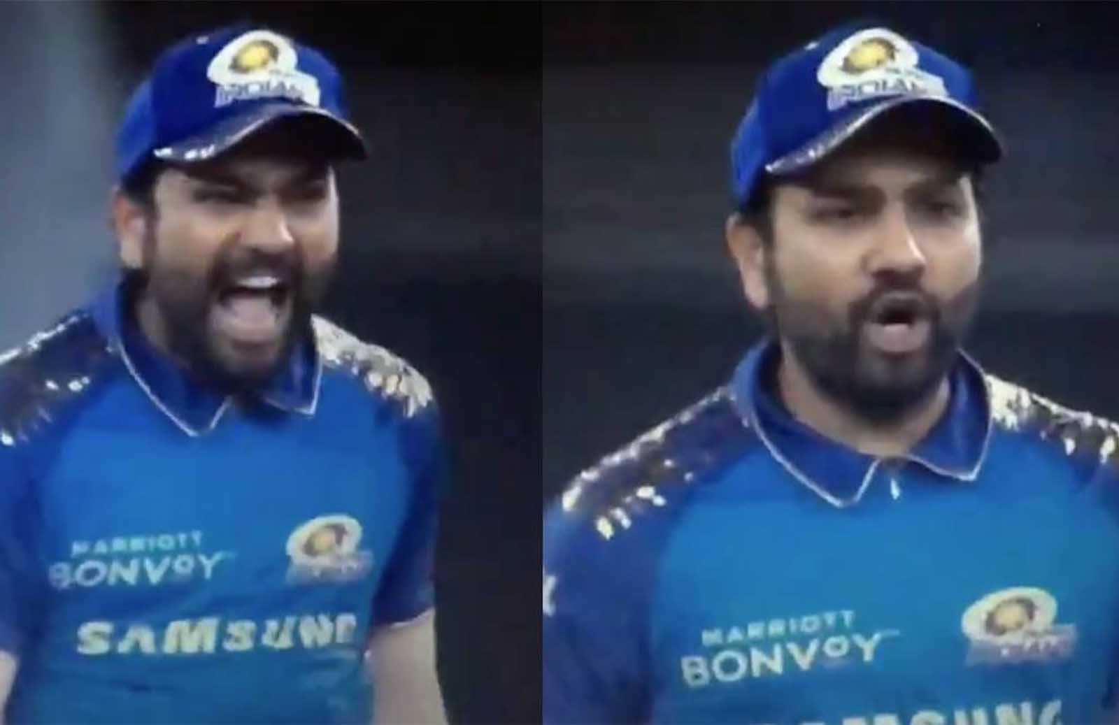 """""""Beh*****d,""""- Rohit Sharma Caught Using a Cuss Word During MI vs KXIP Game: Watch"""