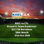 RSCC vs CTL Dream11 Team Prediction | ECS T10 Barcelona | 29th Match | 21st Oct 2020