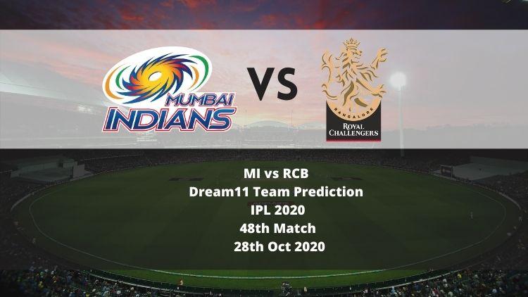 MI vs RCB Dream11 Team Prediction | IPL 2020 | 48th Match | 28th Oct 2020