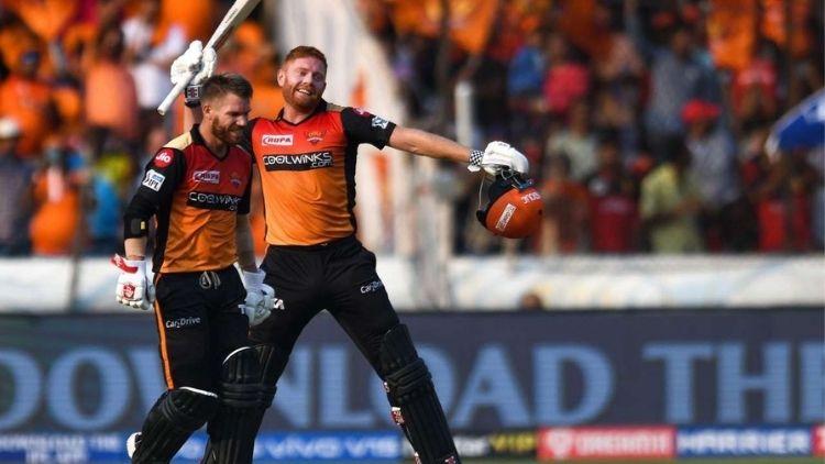 185 runs: D Warner and J Bairstow, SRH vs RCB, IPL 2019
