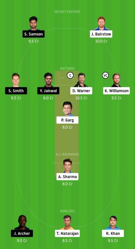SRH vs RR Grand League