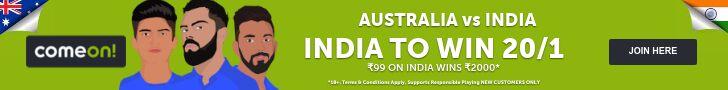 India vs Australia betting