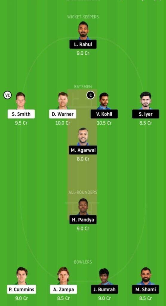AUS vs IND Dream11 Team Prediction | 2nd ODI | Australia vs India | 29th Nov 2020 HEAd to head