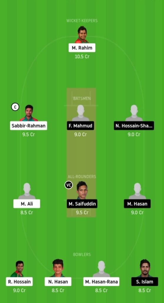 BDH vs MRA Dream11 Team Prediction   Match 01   Bangladesh T20   24 Nov 2020 - grand league