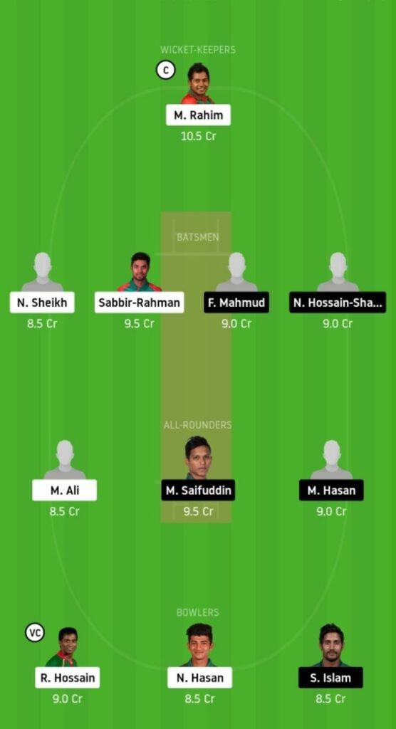 BDH vs MRA Dream11 Team Prediction   Match 01   Bangladesh T20   24 Nov 2020 Head to Head