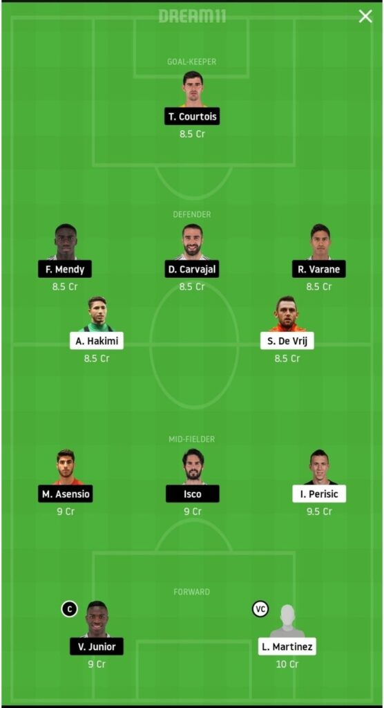 INT vs RM Dream11 Match Prediction | Football Fantasy | UEFA Champions League | 26 Nov 2020 - Head to Head