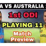 India vs Aus playing11