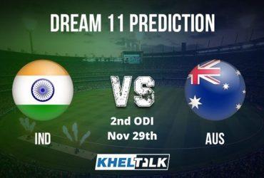 IndiavsAus 2ndODI Dream11 prediction team