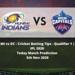 MI vs DC | Cricket Betting Tips | Qualifier 1 | IPL 2020 | Today Match Prediction | 5th Nov 2020