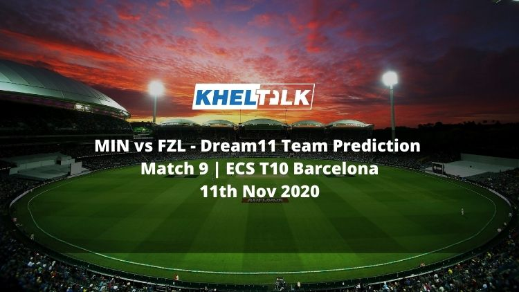 MIN vs FZL Dream11 Team Prediction | Match 9 | ECS T10 Barcelona | 11th Nov 2020