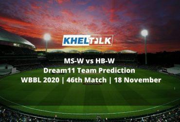 MS-W vs HB-W Dream11 Team Prediction   WBBL 2020   46th Match   18 November