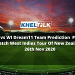NZ-A vs WI Dream11 Team Prediction | Practice Match | West Indies Tour Of New Zealand | 26th Nov 2020
