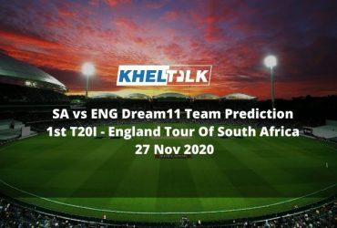 SA vs ENG Dream11 Team Prediction   1st T20I   England Tour Of South Africa   27 Nov 2020