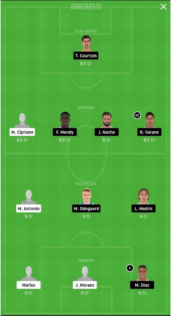 SHA vs RM Dream11 Match Prediction _ Football Fantasy _ UEFA Champions League _ 1st Dec 2020 grand league