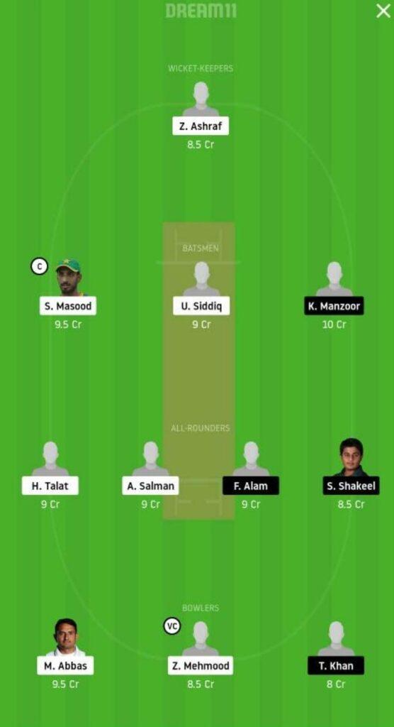 SOP vs SIN Dream11 Team Prediction | Quaid-e-Azam Trophy | 20th Nov 2020 - Grand League