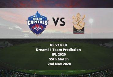 DC vs RCB Dream11 Team Prediction   IPL 2020   55th Match   2nd Nov 2020