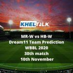 MR-W vs HB-W Dream11 Team Prediction   WBBL 2020   30th match   10th November