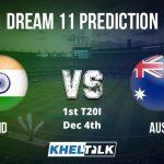AUS vs IND Dream11 Team Prediction   1st T20I   India's Tour Of Australia   4th Dec 2020