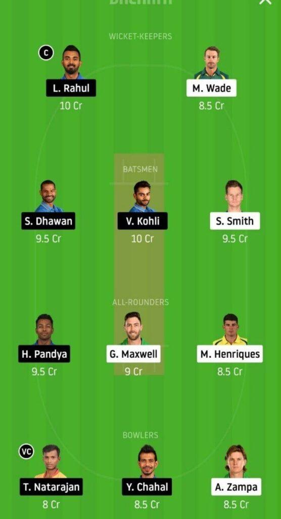AUS vs IND Dream11 Team Prediction _ 3rd T20I _ India tour of Australia _ 8th Dec 2020 Head to head